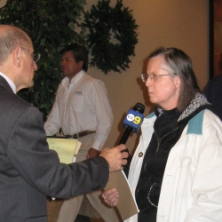 CBS Channel 2 interviews Chris-Rowe who claimed no Rocketdyne radiation got offsite.