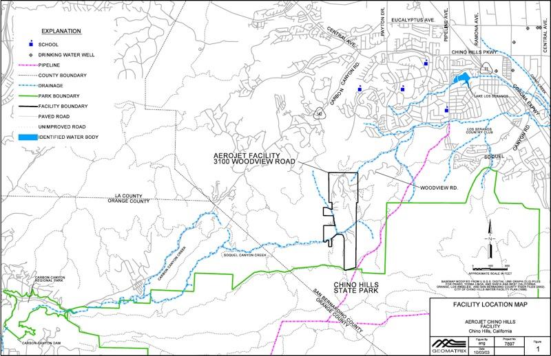 Aerojet Chino Hills OBOD Maps and Layout EnviroReportercom