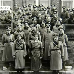 Hitler and von Braun fifth row in suit