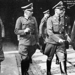 Wernher von Braun - SS initiation with Himmler