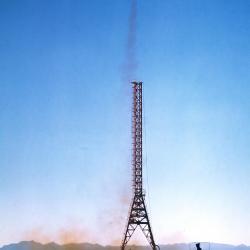 NATIV Launch - 1948, Alamo Gordo Army Base, New Mexico - NATIV Launch Complex  - North American Test Instrumentation Vehicle