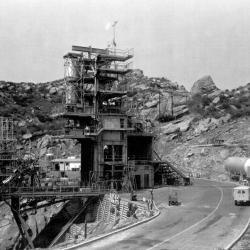 Vertical Test Stand (VTS) -I - 1954, SSFL - Santa Susana Field Laboratory - Bowl Area - VTS-I Test Stand - 1954