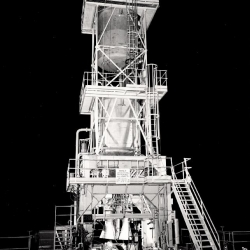 VTS_II_at_the_Bowl_Area_of_the_SSFL_XLR71-NA-1_engine_test_in_1954