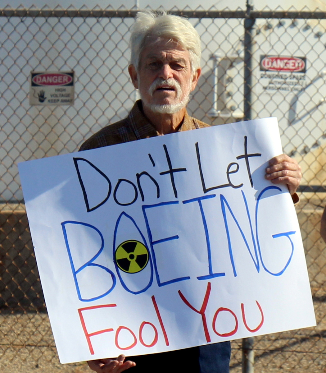 Protesting Boeing's hike through SSFL's Southern Buffer Zone