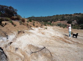 Rev. John Southwick photographs white substance in Runkle Canyon