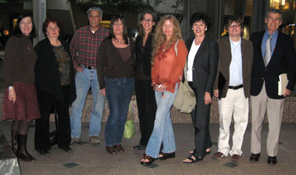 Left to right: Dawn Kowalski, Marie Mason, Dan Hirsch, Holly Huff, Christina Walsh, D'Lanie Blaze, Bonnie Klea, Bill Bowling, Dave Einhorn