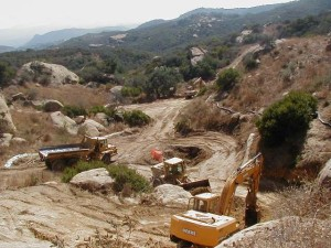 Happy Valley perchlorate excavation above Dayton Canyon - 2003 courtesy DTSC