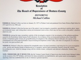 Ventura County Board of Supervisors Resolution