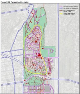 January 2016 master plan show paths and a plaza in  heart of dump