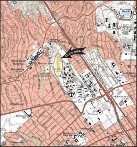 October 2010 VA dump Survey Area