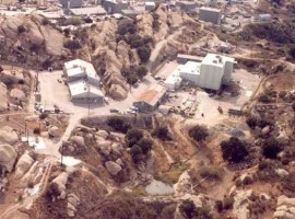 Sodium Reactor Experiment - right - partially melted down in 1959