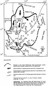 Yucca Mountain-Death Valley groundwater map
