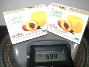 Simply Delish peach gelatin