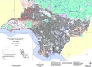 LA County radon potential zones