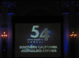 EnviroReporter Best 2011 Online News Organization Website at 2012 LA Press Club Gala