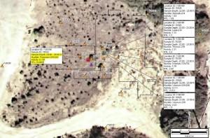 Plutonium 239-240 over 92 x BG 24 feet under reactor site