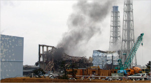 Unit 3 reactor smoulders - courtesy TEPCO