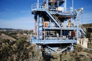 ALFA rocket test stand above LA River headwaters-WPB
