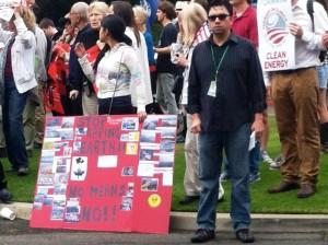 Keystone Pipeline protest in Santa Monica