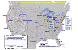 NRC map of Independent Spent Fuel Storage Installations