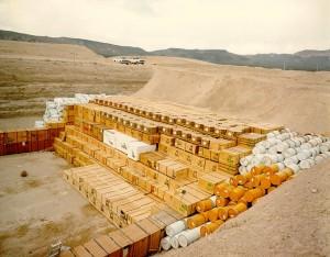 Nevada Test Site low-level radioactive waste storage pit