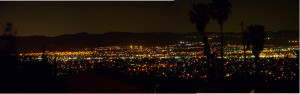 Panorama of Hemet at night