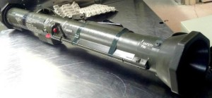 Rocket laucher seized in checked luggage by TSA 2012