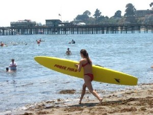 Capitola Beach is the new frontline of the Sea of Fuku Goo as it flows south along the California coast