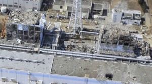 March 30, 2011 flyover of exploded Fukushima reactors