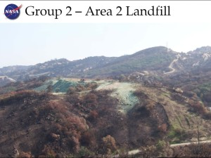 Massive NASA landfill mountain in Area II