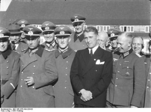 Wernher von Braun with Nazis during WWII