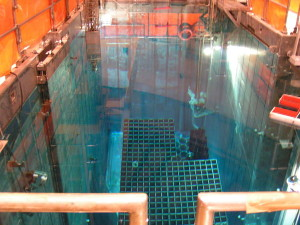Tons of spent nuclear reactor fuel rods sit under deep water that is constantly circulated to keep the hot rods cool. Loss of power would lead to full failure of the pools with catastrophic consequences.