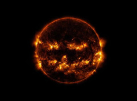 Lights Out Lantern - Oct 8 2014 Sun photo by NASA
