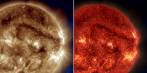 Million mile long plasma filament snakes across Sun early October 2014 - NASA SDO photo
