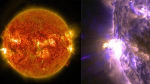 Massive solar flare caught by NASA 24 August 2014