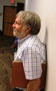 Abe Weitzberg at 8 Sept 2015 DTSC-ATSDR meeting which saw community protests against DOE contractor's petition.