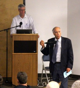 SSFL cleanup proponent Dan Hirsch explains at Sept 8, 2015 meeting how DTSC is breaking its promise to clean up Rocketdyne.