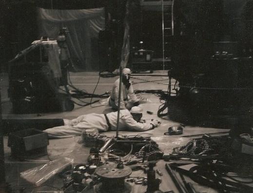 Photo of men working on stricken SRE that John Pace describes.