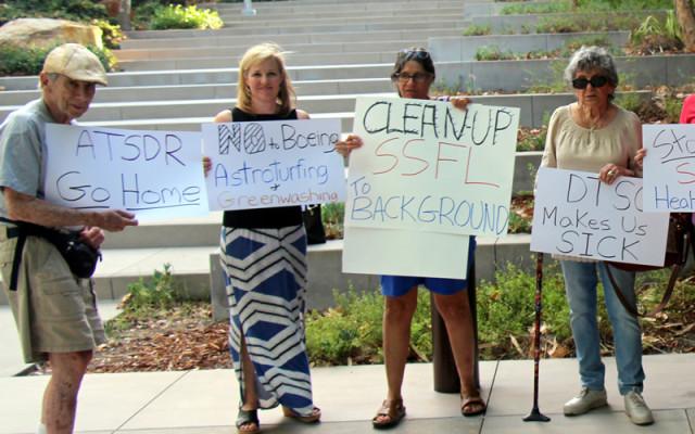 Citizens protest ATSDR probe of SSFL Sept. 8, 2015