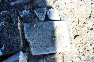 Charred tombstone in Brentwood nuke dump found Jan. 28, 2016