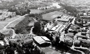 History of Brentwood School video screen capture shows arroyo school built athletic complex over, which was part of the dump