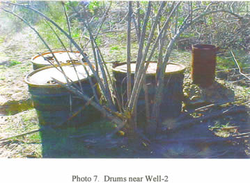 Runkle Canyon dumped drums