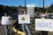 "Protesters at Boeing's ""Nature Walk""at SSFL on Earth Day April 23, 2016"