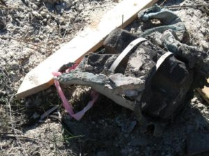 November 4, 2007 photo of antimony in pipe, part of $11 million cleanup - DTSC photo