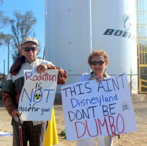 Veteran Rocketdyne Cleanup Coalition veterans protested in same spot 27 years ago! SSFL is still not cleaned up but is open for hikes and bus tours.