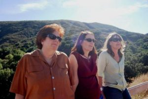 Longtime Rocketdyne Cleanup Coalition activists (l-r) Marie Mason, Dawn Kowalski & Holly Huff.