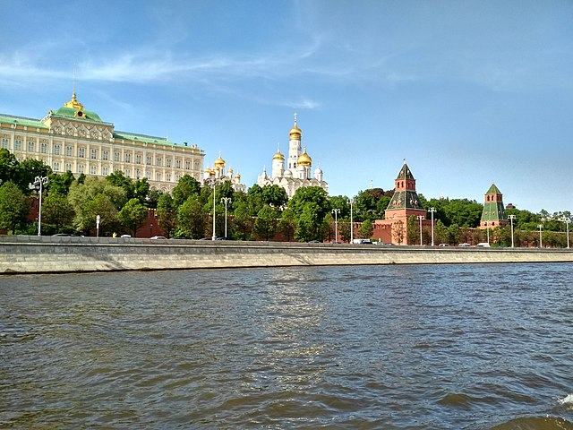 Moscow River near the Kremlin walls - Oleg Bor Creative Commons